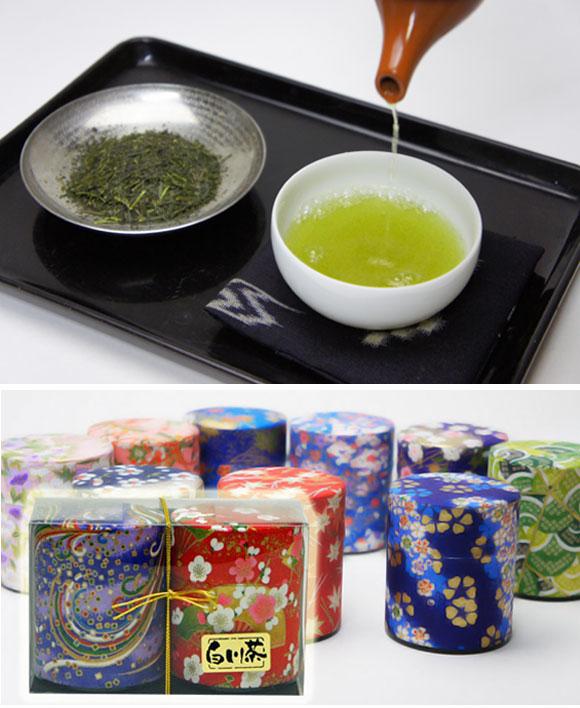 和紙缶2本入り白川茶トップ